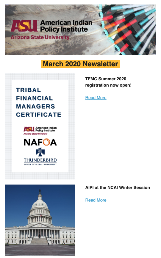 March 2020 Newsletter thumbnail